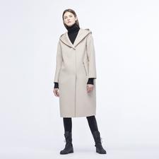 Jednofarebné dámske kabáty